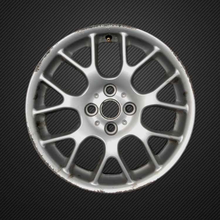 kerbed alloy wheel