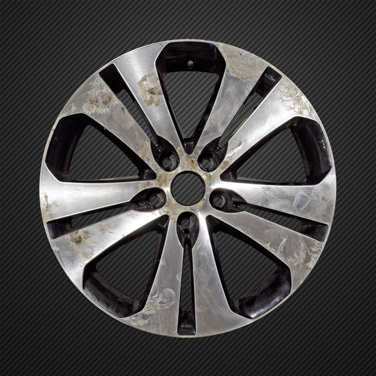 Kia diamond cut alloy wheel