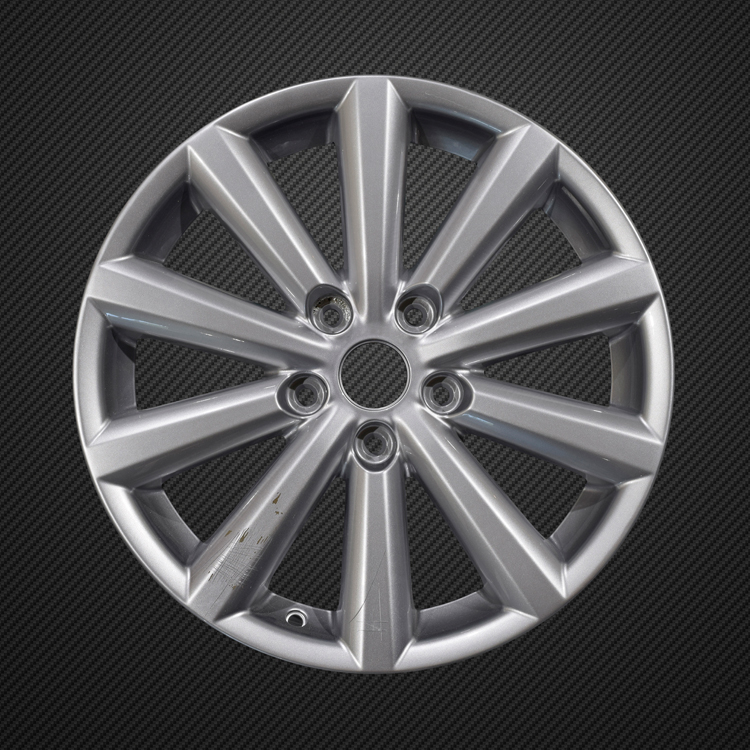 blue glass effect alloy wheel