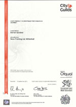 accident repair paint competence level 3 certificate