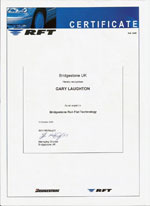 bridgestone run flat tech expert certificate
