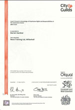 knowledge of employees rights level 2 certificate