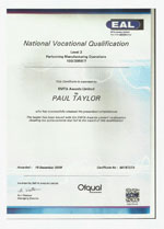performing manufacturing operations certificate