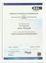 process improvement certificate