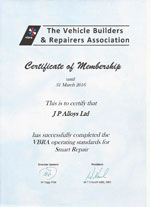 vbra operating standards smart repair certificate