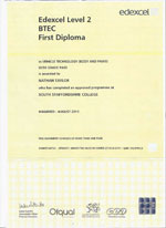 vehicle technology btec certificate