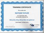 wheelrite alloy wheel rim straightener certificate