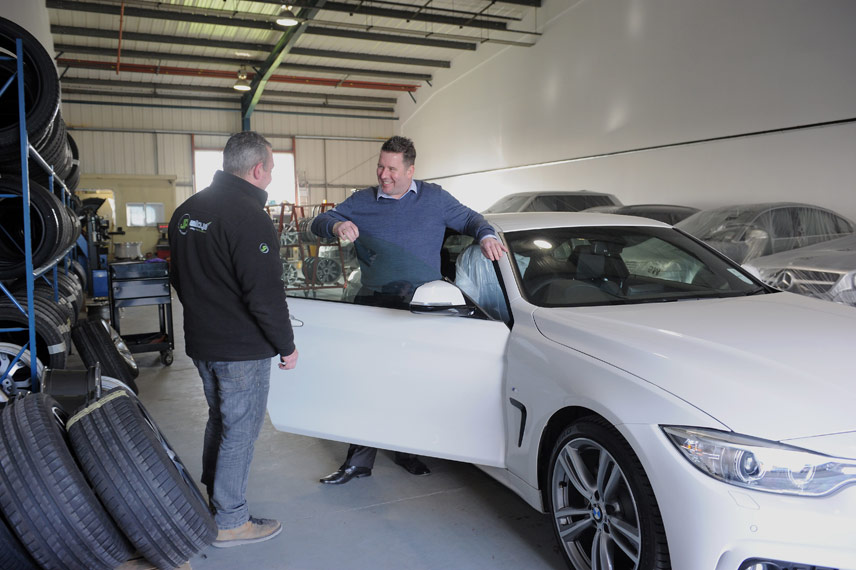 image of vehicle handover